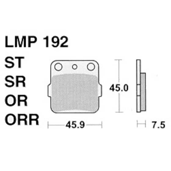 AP BRAKE PAD LMP192ORR