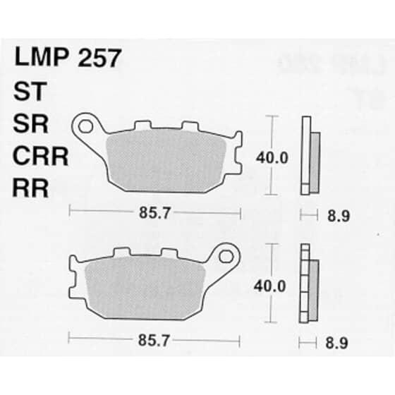 AP BRAKE PAD LMP257SR