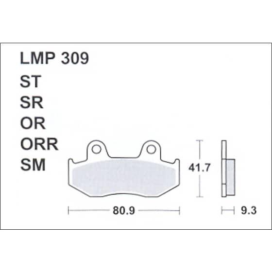 AP BRAKE PAD LMP309