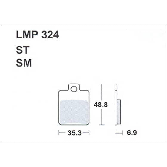 AP BRAKE PAD LMP324