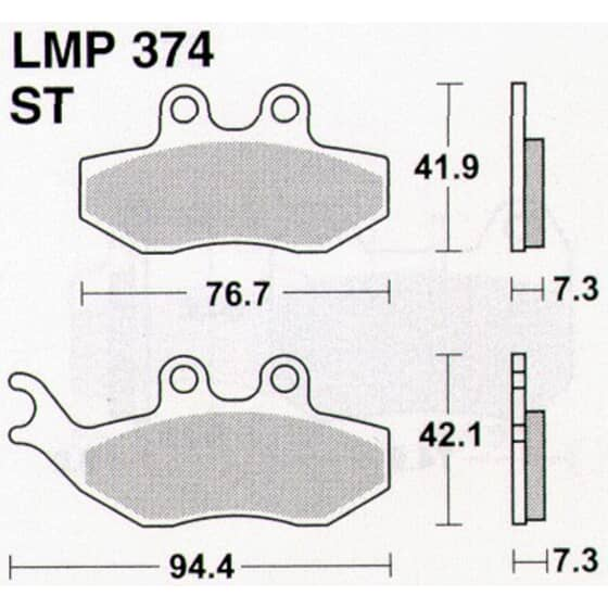 AP BRAKE PAD LMP374