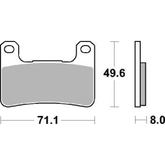 AP BRAKE PAD LMP406SF