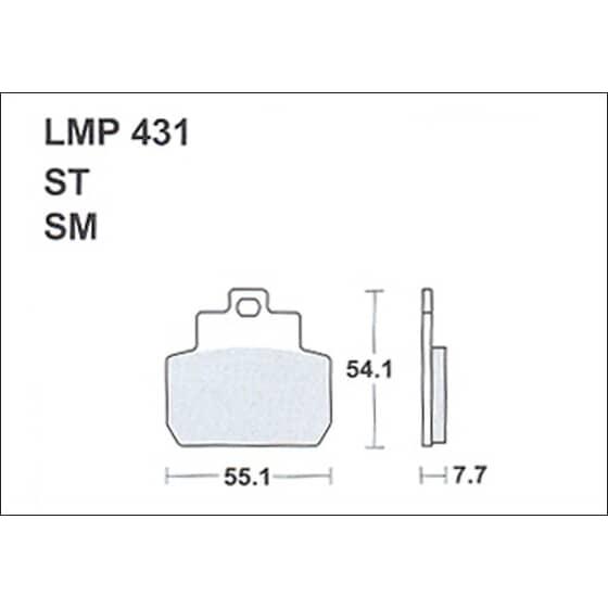 AP BRAKE PAD LMP431