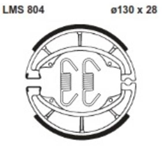 AP BRAKE SHOE LMS804