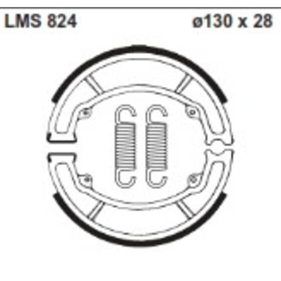 AP BRAKE SHOE LMS824