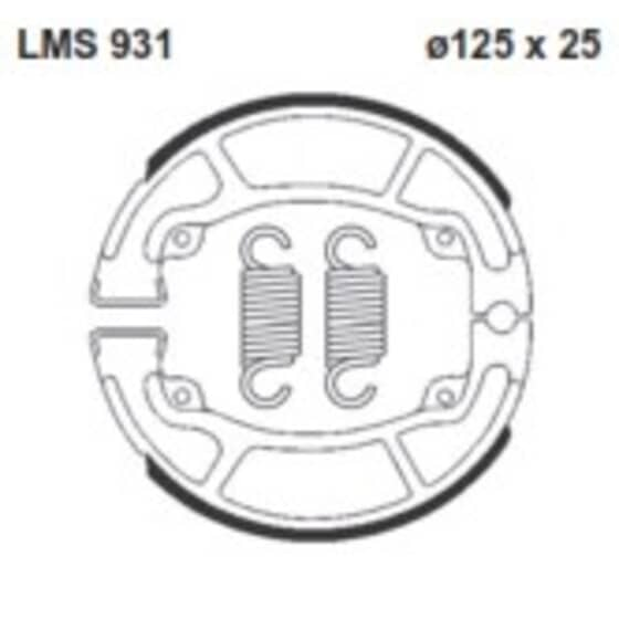 AP BRAKE SHOE LMS931