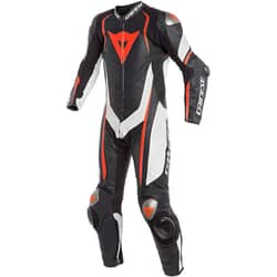 DAINESE KYALAMI 1PC PERF.LEATHER SUIT BLACK/WHITE/FLUO-RED