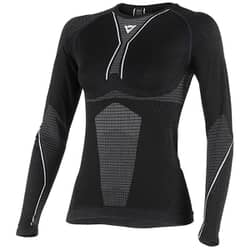 DAINESE D-CORE DRY TEE LS LADY BLACK/WHITE