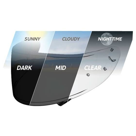 SHOEI VISOR CWR1 PHOTOCHROMIC NXR