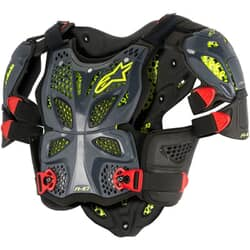ALPINESTARS A-10 FULL CHEST PROTECTOR ANTH BLK RED