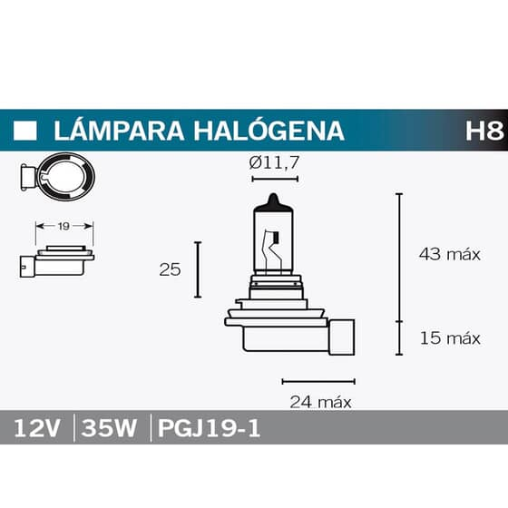 VICMA LAMPARA HALOGENA H8