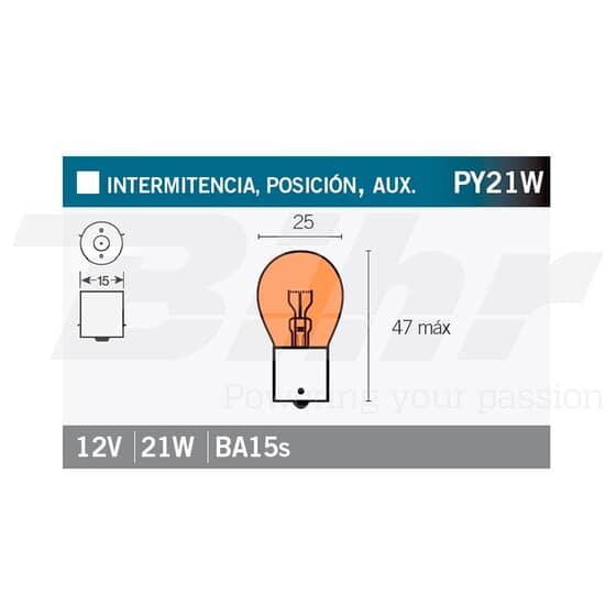 VICMA AMPOULE BILUX BA15s 12V 21W