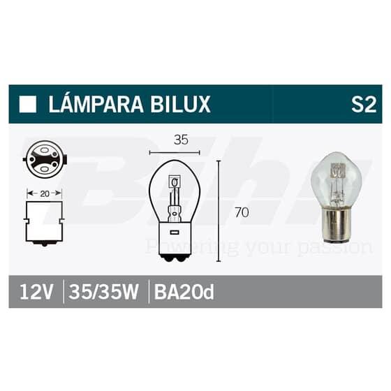 VICMA BULB BILUX BA20d 12V 35/35W
