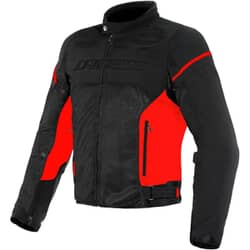 DAINESE AIR FRAME D1 TEX JACKET BLACK RED RED