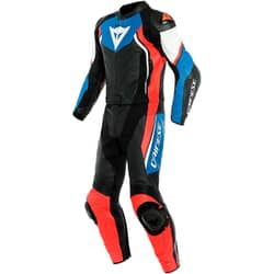 DAINESE AVRO D2 2 PIECES BLACK/LIGHT-BLUE/FLUO-RED