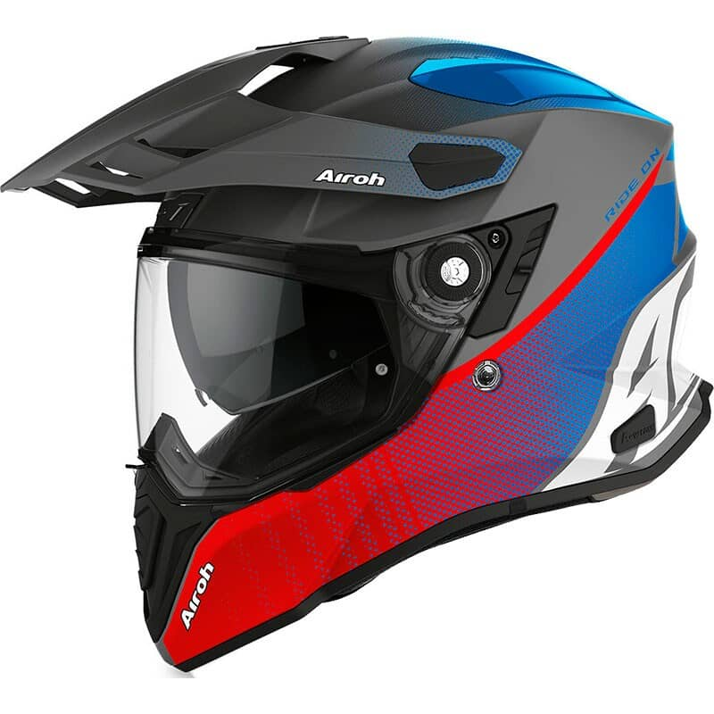 Detalles de Airoh Commander 2020 Adventure Visera Moto Pinlock Casco Soporte para Cámara