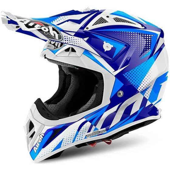 AIROH AVIATOR 2.2 FLASH BLUE GLOSS