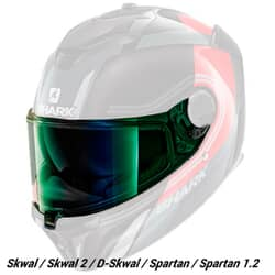 SHARK VISOR V7 SPARTAN 1.2 / SKWAL IRIDIUM